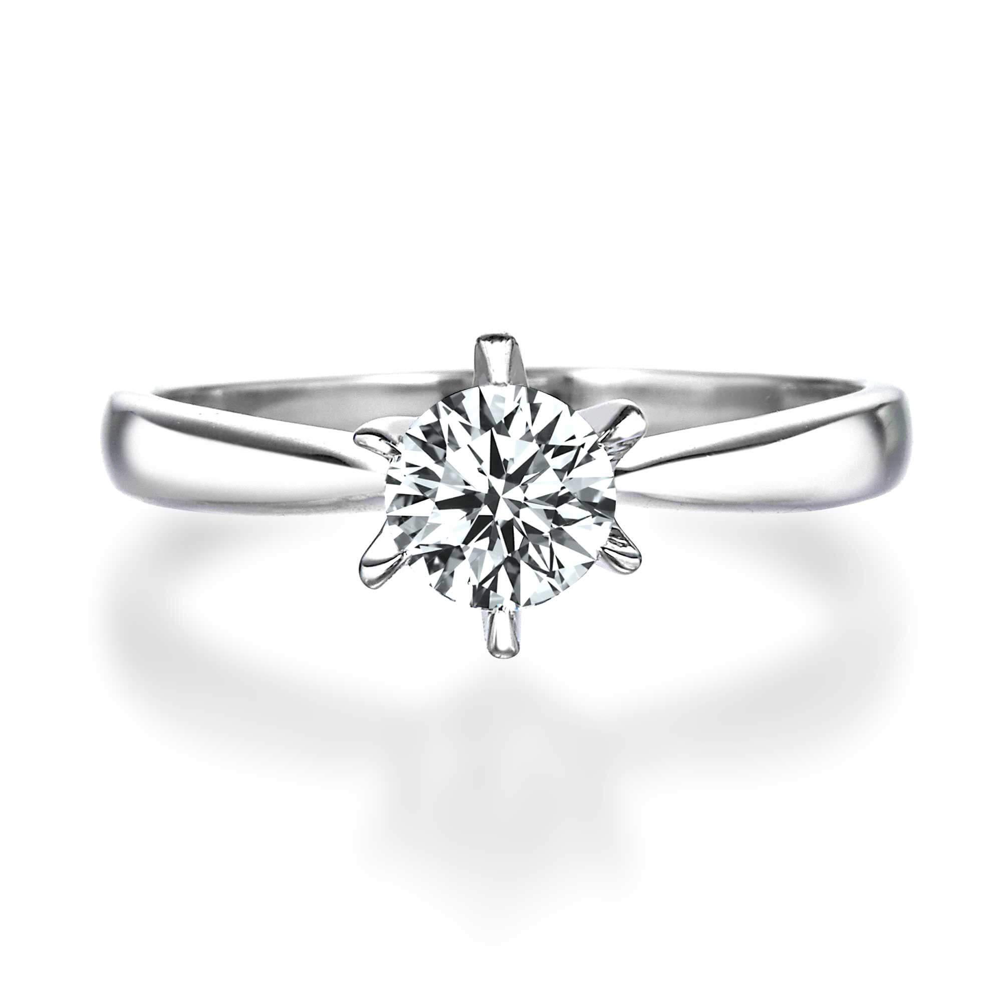 online store 8f577 a06de 6本爪クラシカルラウンドダイヤモンドリング | 結婚指輪・婚約 ...